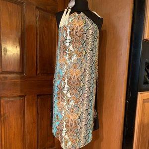 NWT Snakeskin Printed Halter Dress